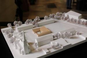 Modell des Gemmeindezentrums