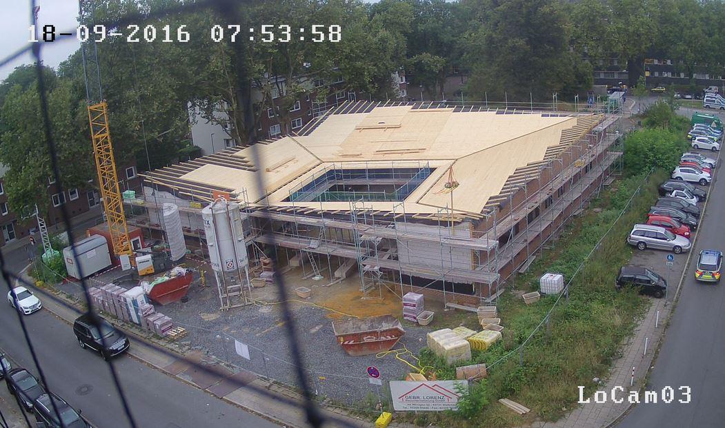 Dachstuhl errichtet am 18.09.2016